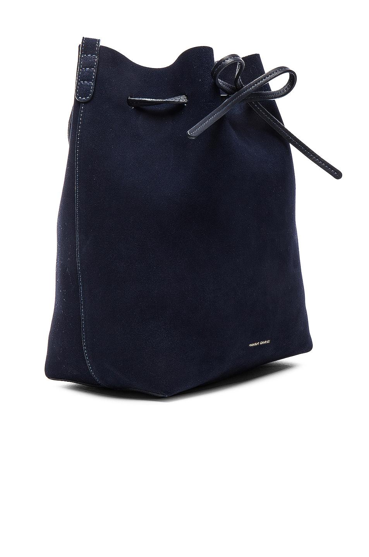 Image 4 of Mansur Gavriel Bucket Bag in Blu Suede