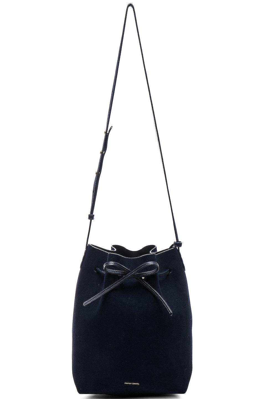 Image 6 of Mansur Gavriel Bucket Bag in Blu Suede