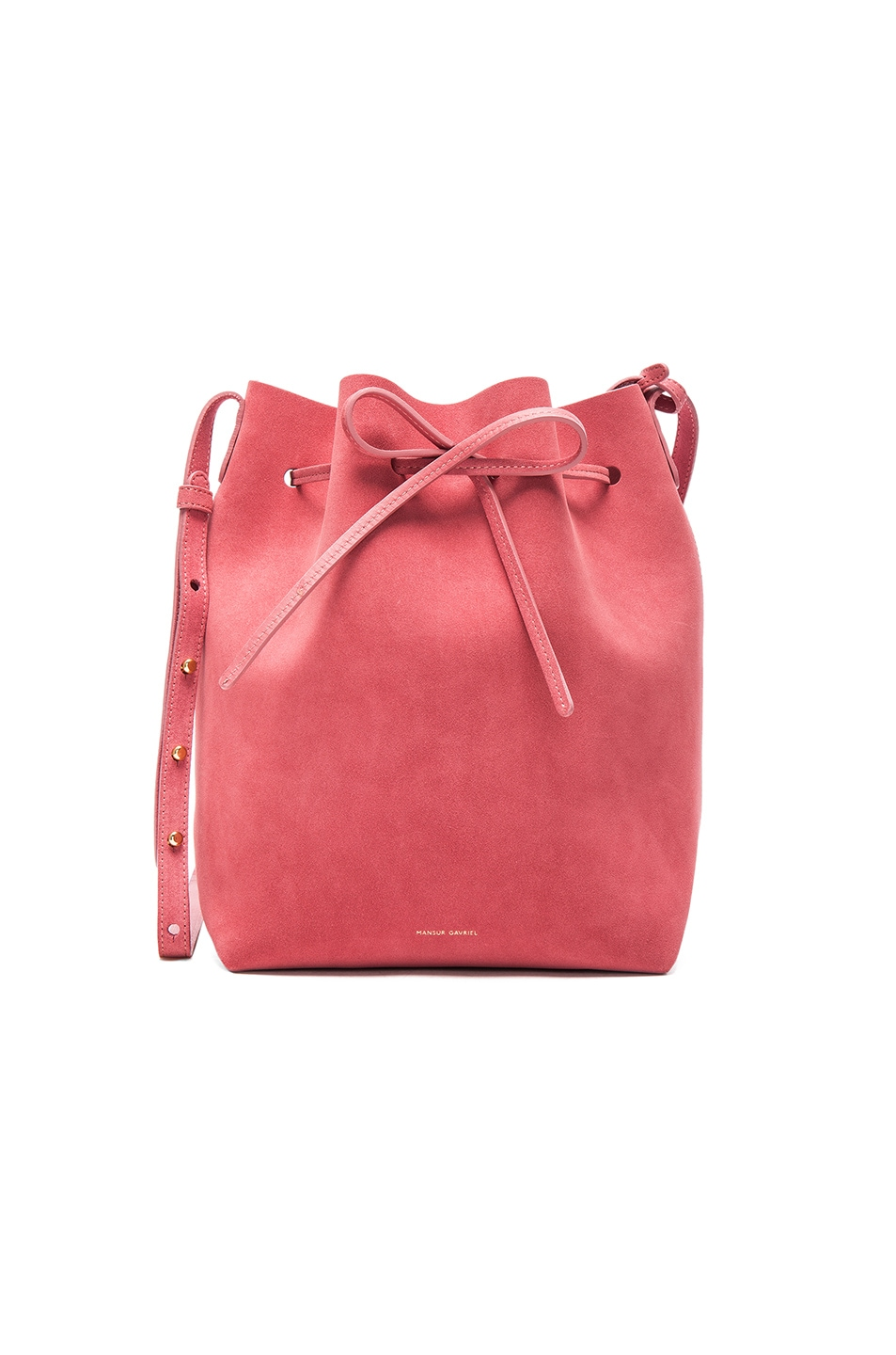 Image 1 of Mansur Gavriel Bucket Bag in Blush Suede