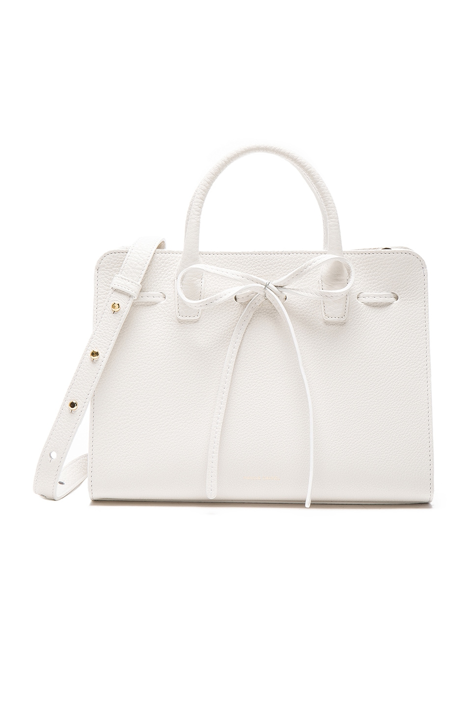 Image 1 of Mansur Gavriel Mini Sun Bag in White Tumble