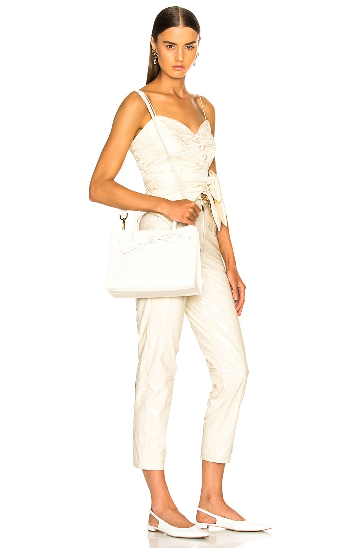 Image 2 of Mansur Gavriel Mini Sun Bag in White Tumble