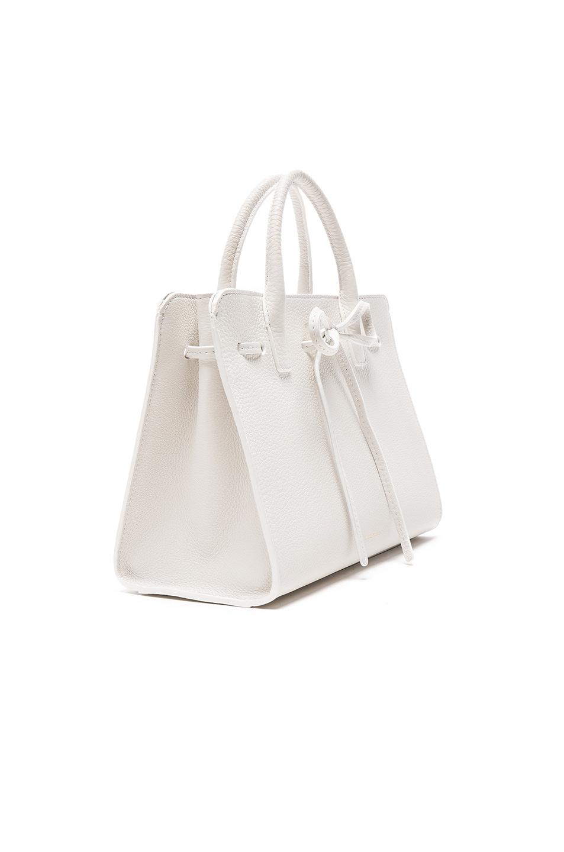 Image 4 of Mansur Gavriel Mini Sun Bag in White Tumble