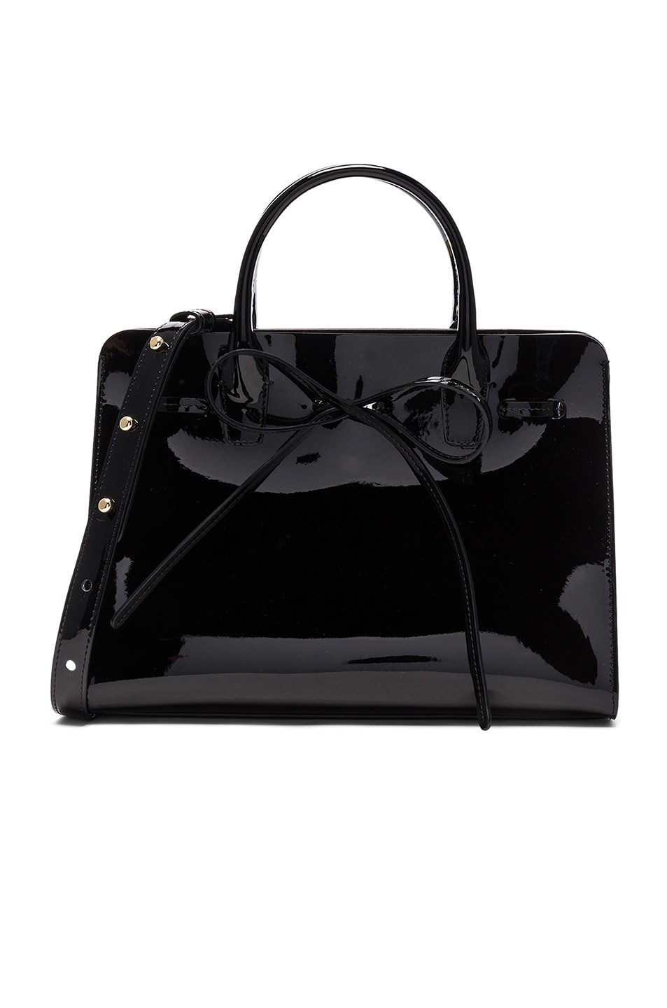 Image 1 of Mansur Gavriel Mini Sun Bag in Black Patent