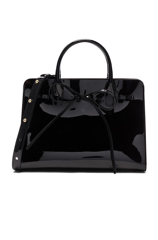 Image 1 of Mansur Gavriel Mini Sun Bag in Black Patent