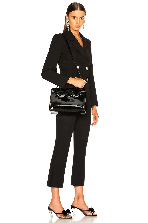 Image 2 of Mansur Gavriel Mini Sun Bag in Black Patent