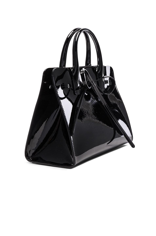 Image 4 of Mansur Gavriel Mini Sun Bag in Black Patent