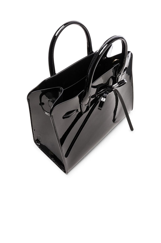 Image 5 of Mansur Gavriel Mini Sun Bag in Black Patent