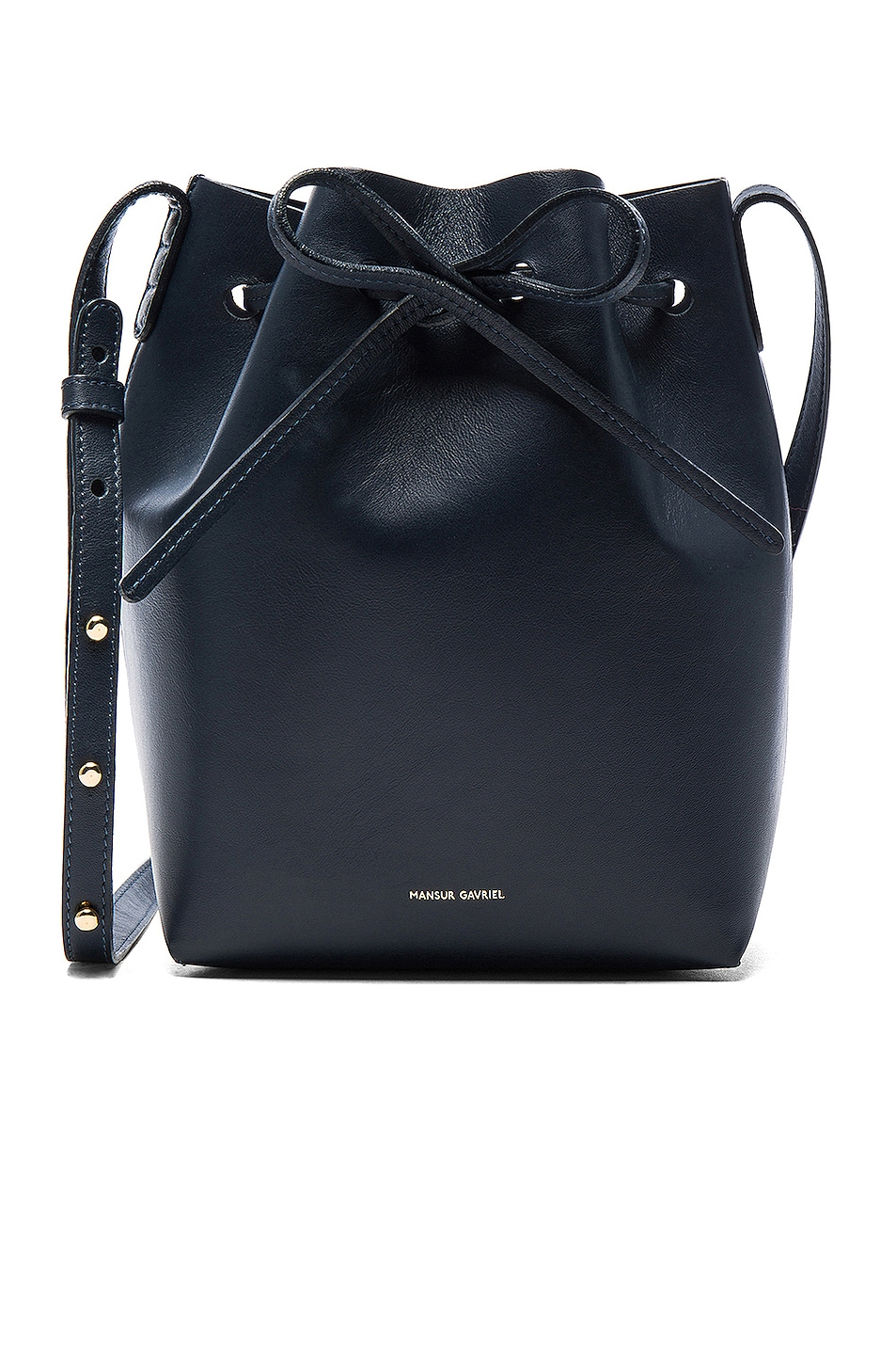 Image 1 of Mansur Gavriel Mini Bucket Bag in Blu Calf