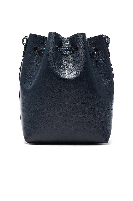 Image 3 of Mansur Gavriel Mini Bucket Bag in Blu Calf