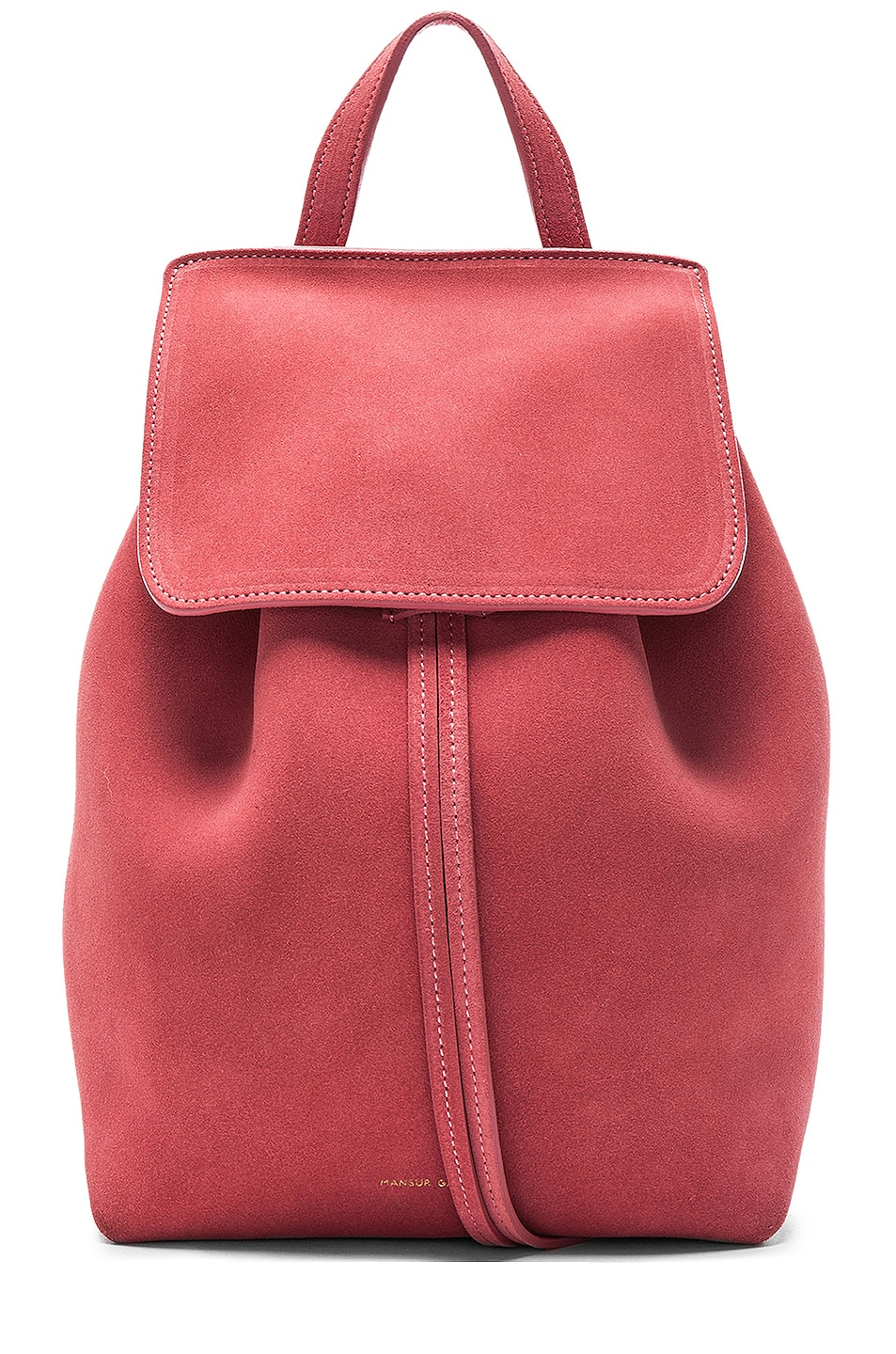Image 1 of Mansur Gavriel Mini Backpack in Blush Suede