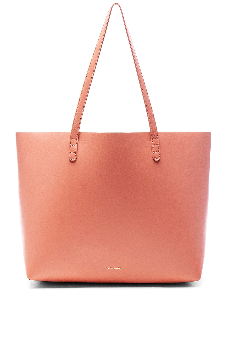 Image 1 of Mansur Gavriel Large Tote in Blush Calf