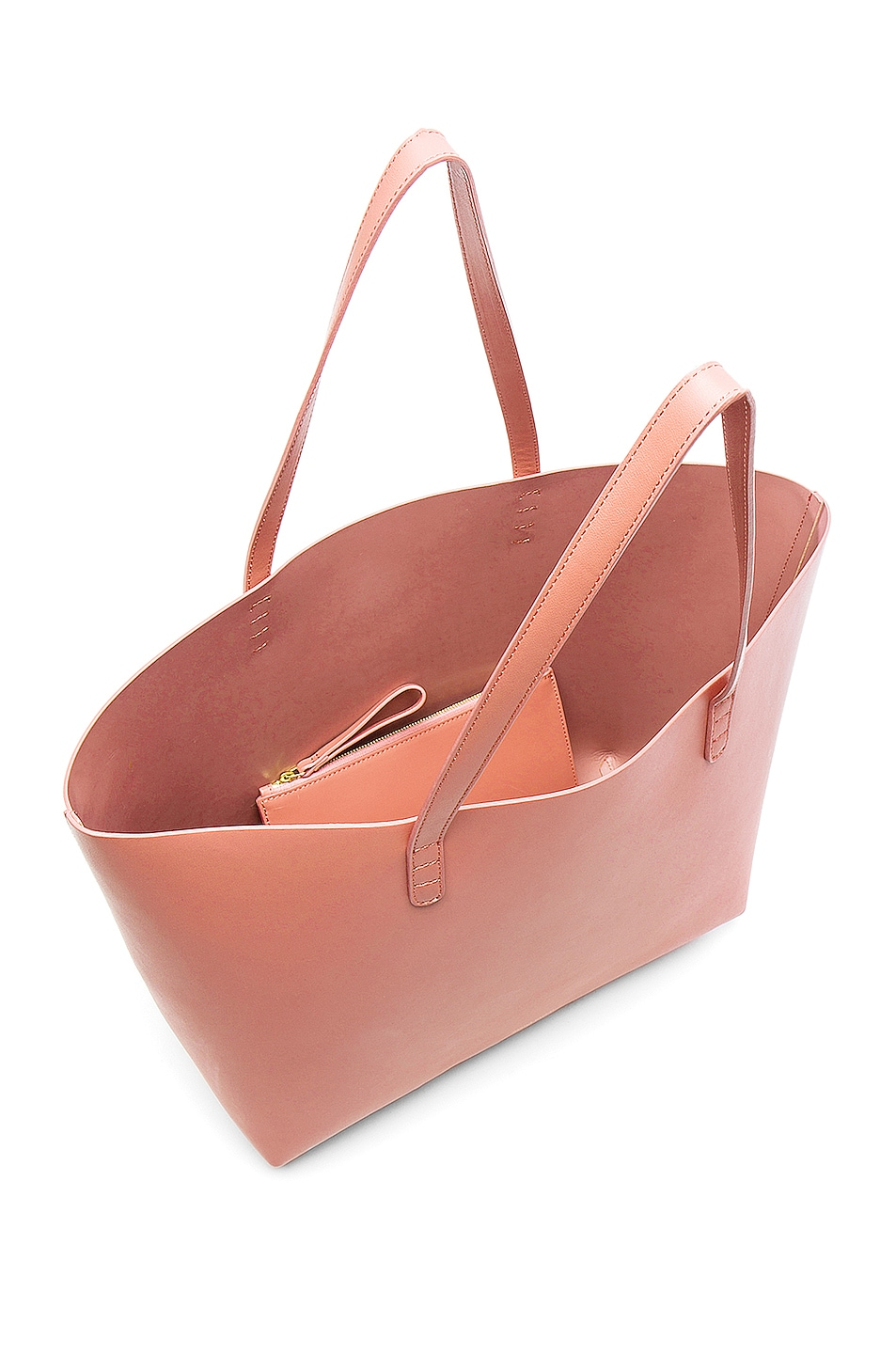 Image 5 of Mansur Gavriel Large Tote in Blush Calf