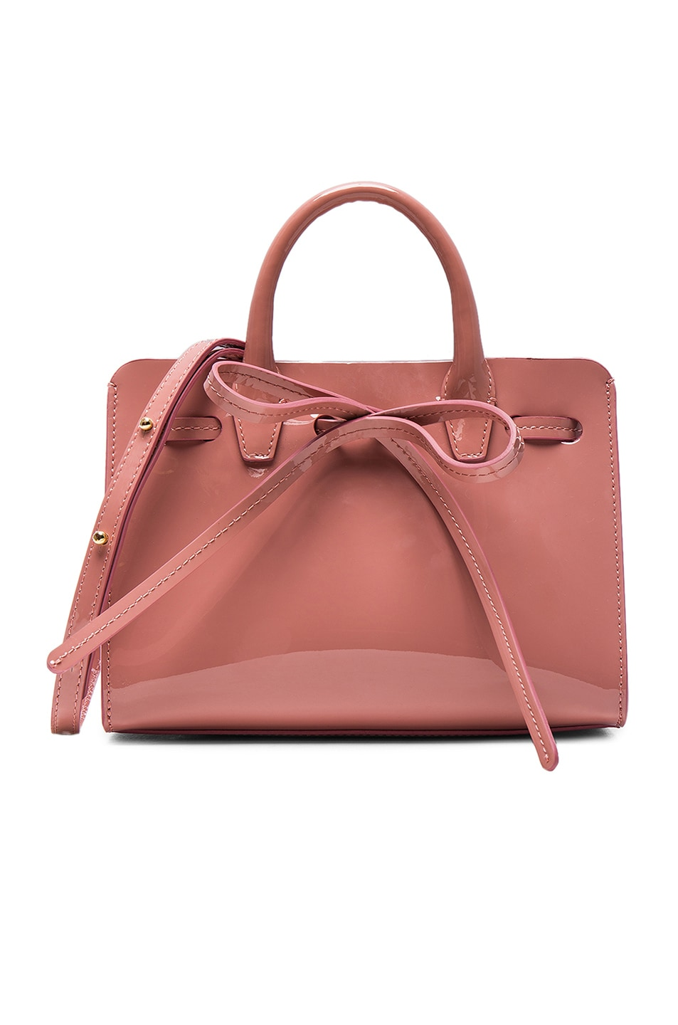 Image 1 of Mansur Gavriel Mini Mini Sun Bag in Blush Patent