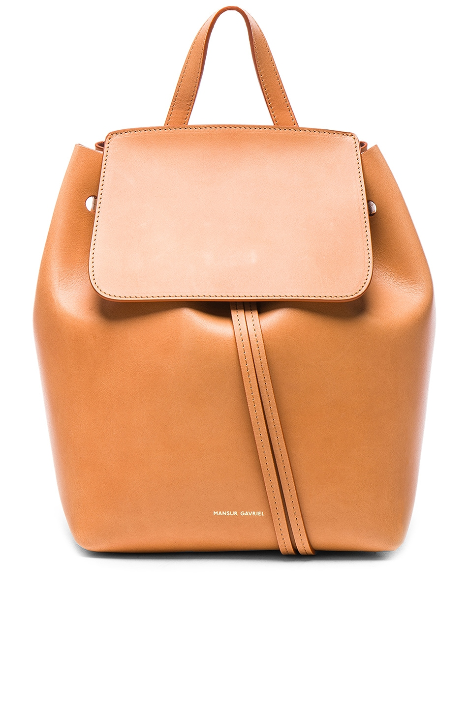 Image 1 of Mansur Gavriel Mini Backpack in Camello & Rosa
