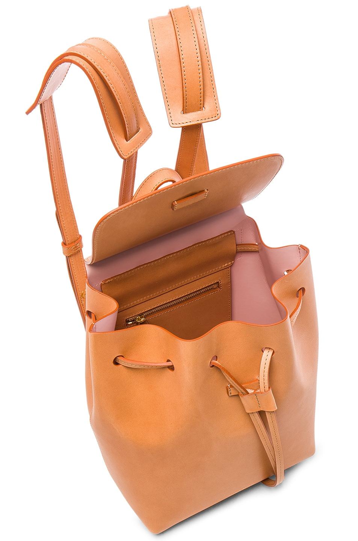 Image 5 of Mansur Gavriel Mini Backpack in Camello & Rosa