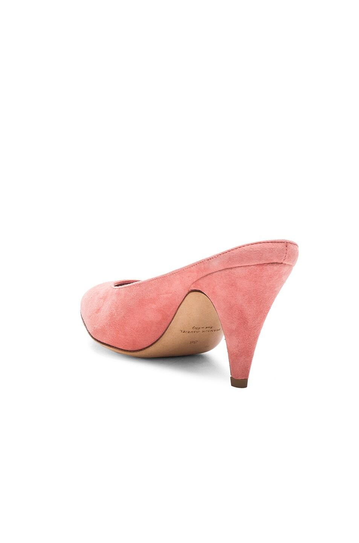 Image 3 of Mansur Gavriel Suede Heel Slippers in Blush Suede