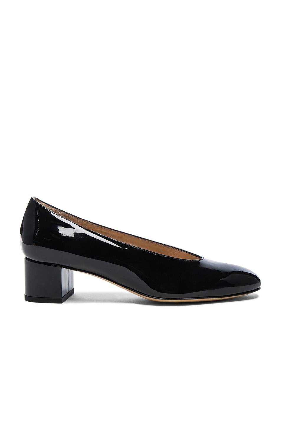 0fbeb22a667 Image 1 of Mansur Gavriel Patent Leather Ballerina Pumps in Black