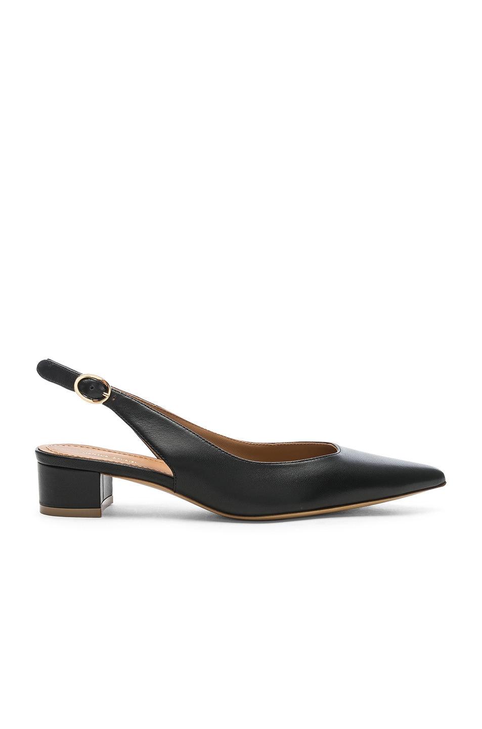 Image 1 of Mansur Gavriel Lamb Slingback Heel in Black