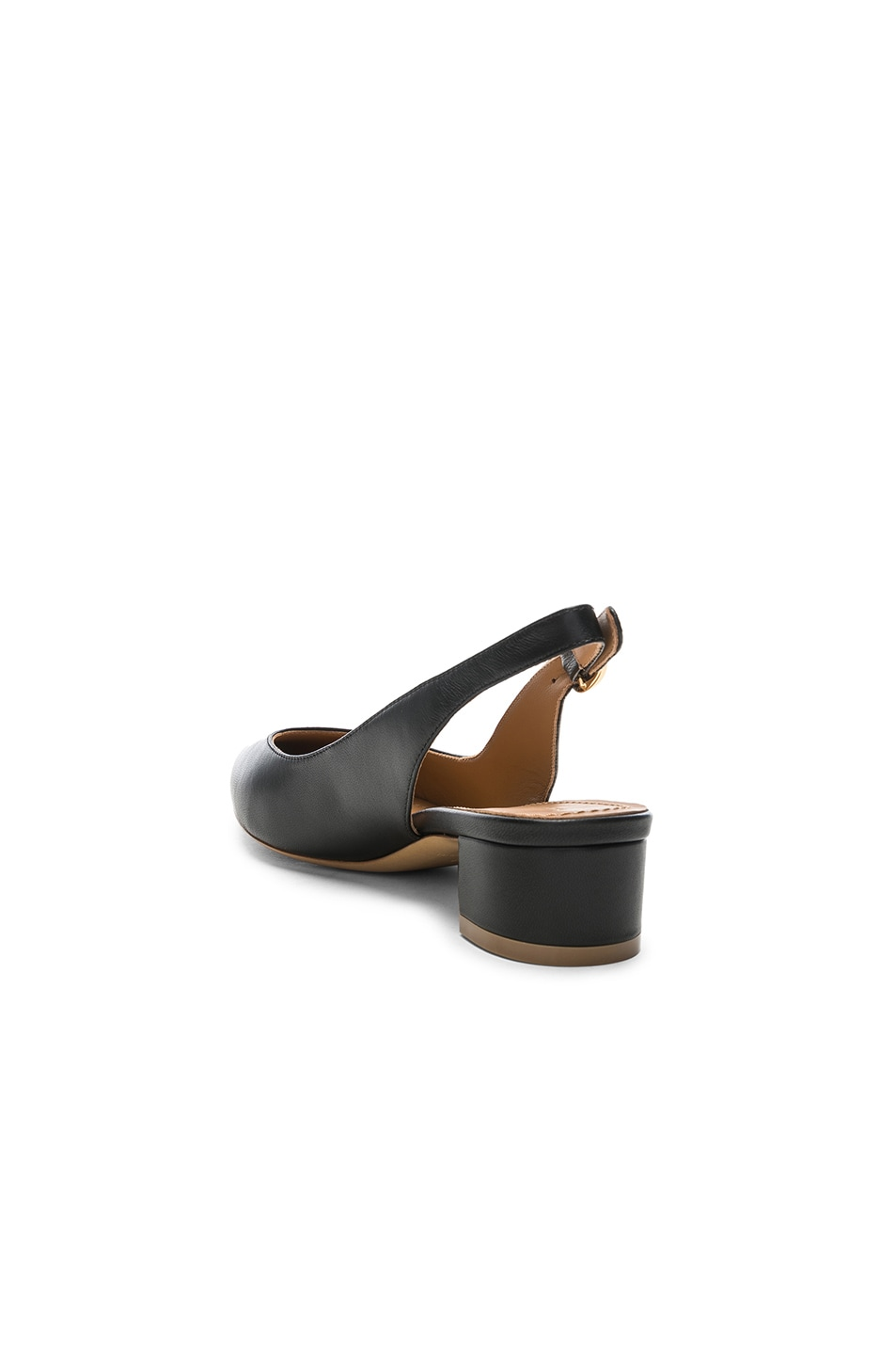 Image 3 of Mansur Gavriel Lamb Slingback Heel in Black