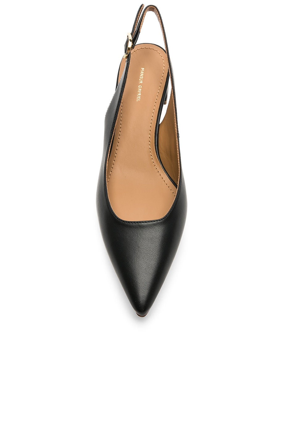 Image 4 of Mansur Gavriel Lamb Slingback Heel in Black