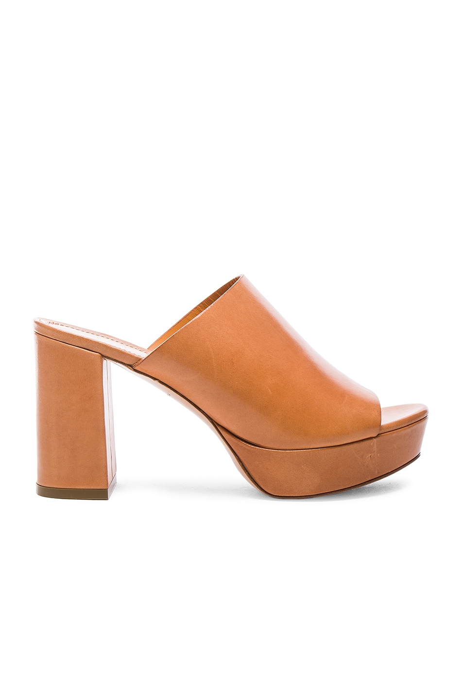 Image 1 of Mansur Gavriel Leather Mules in Cammelo