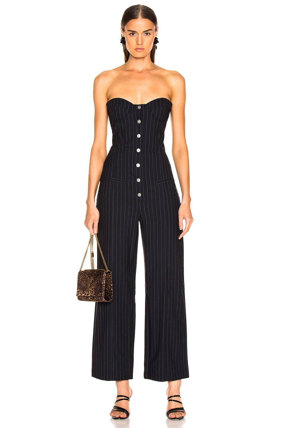 Image 1 of Miaou Piper Jumpsuit in Pinstripe