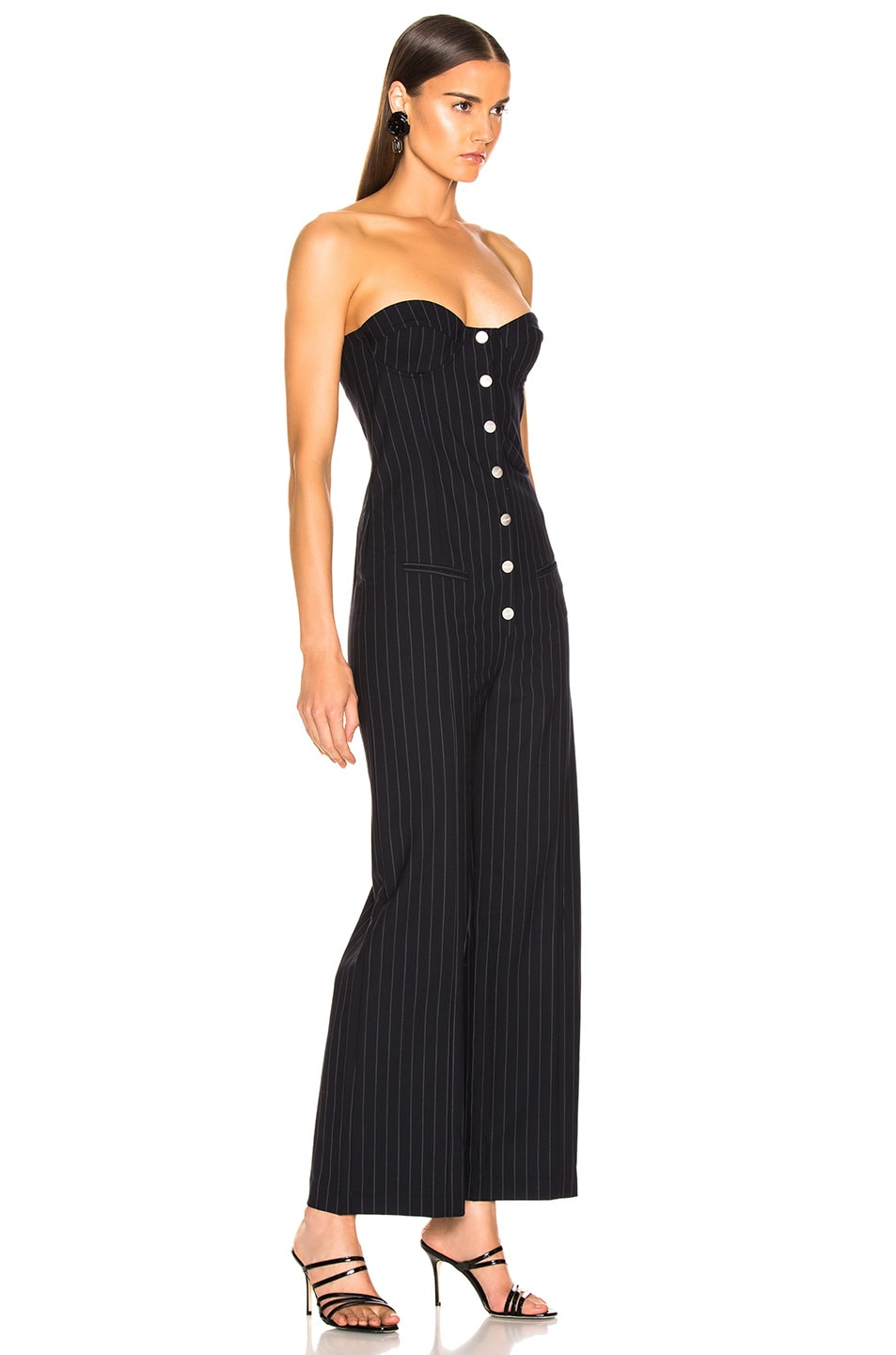 Image 2 of Miaou Piper Jumpsuit in Pinstripe