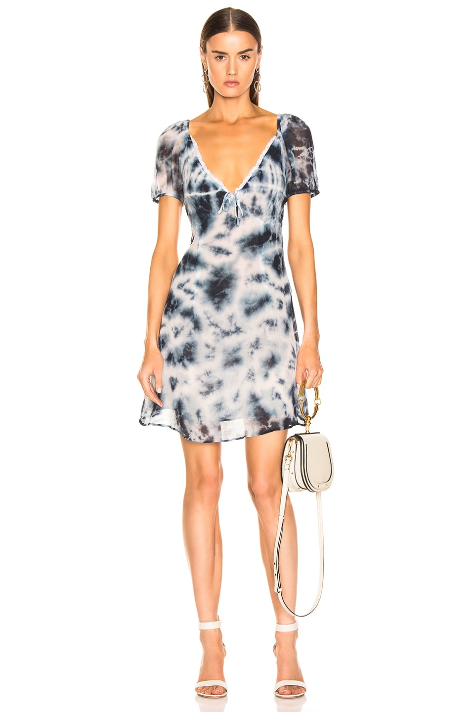 Image 1 of Miaou Kate Dress in Indigo Tie Dye