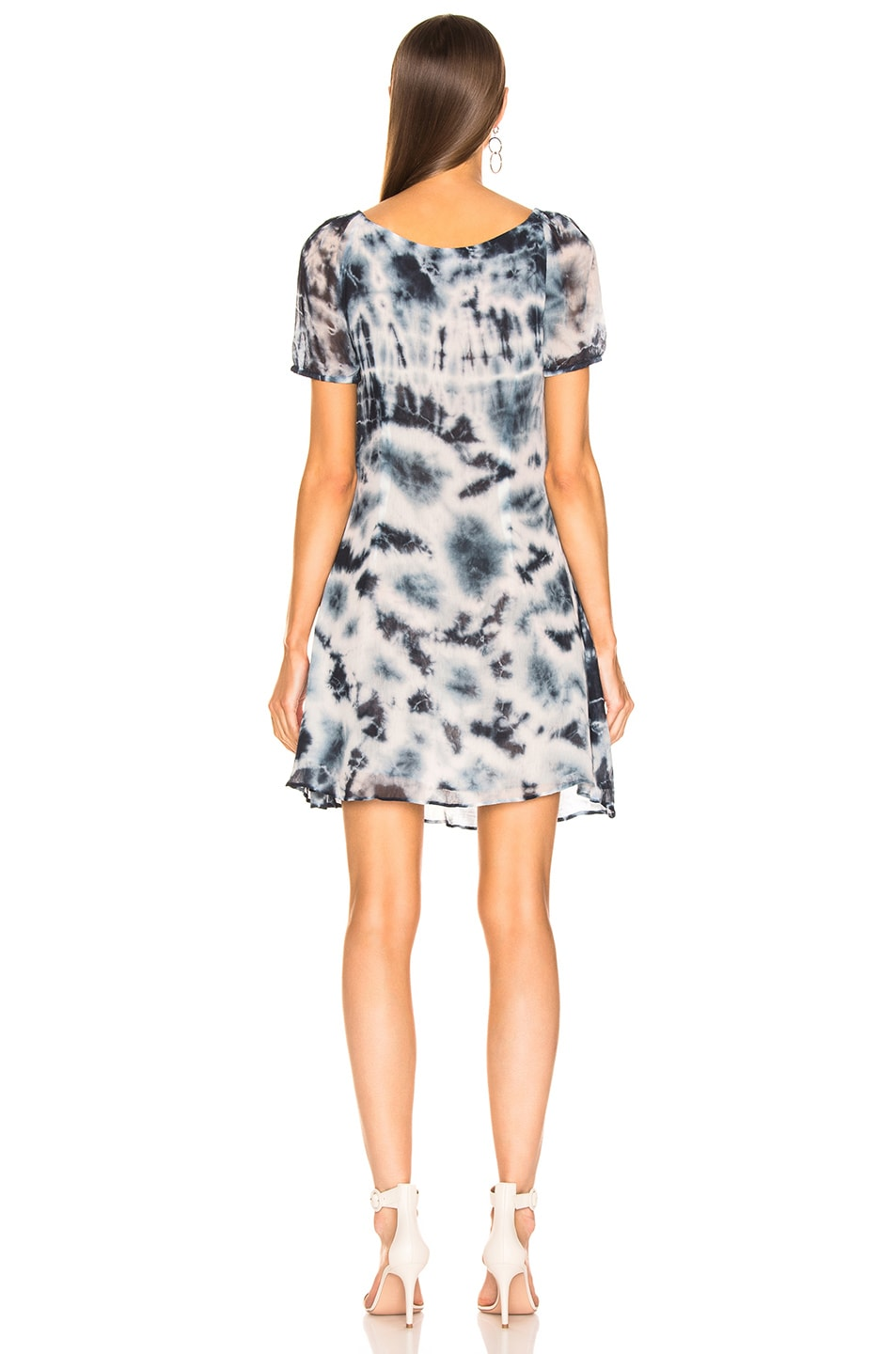 Image 3 of Miaou Kate Dress in Indigo Tie Dye