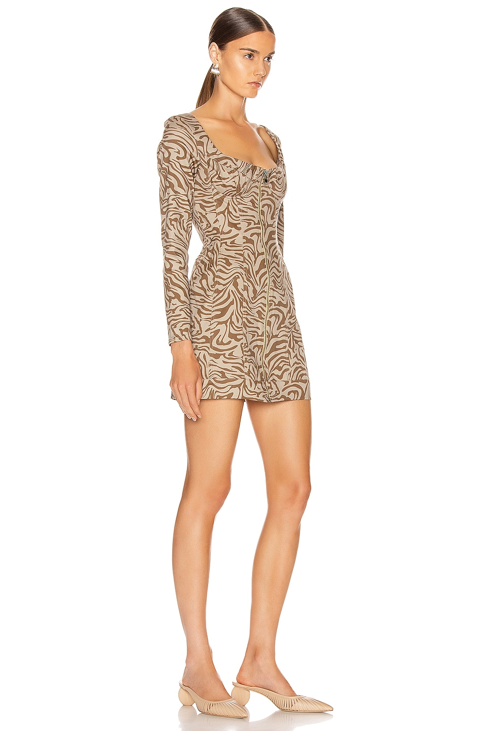 Image 2 of Miaou Dree Dress in Tan Zebra