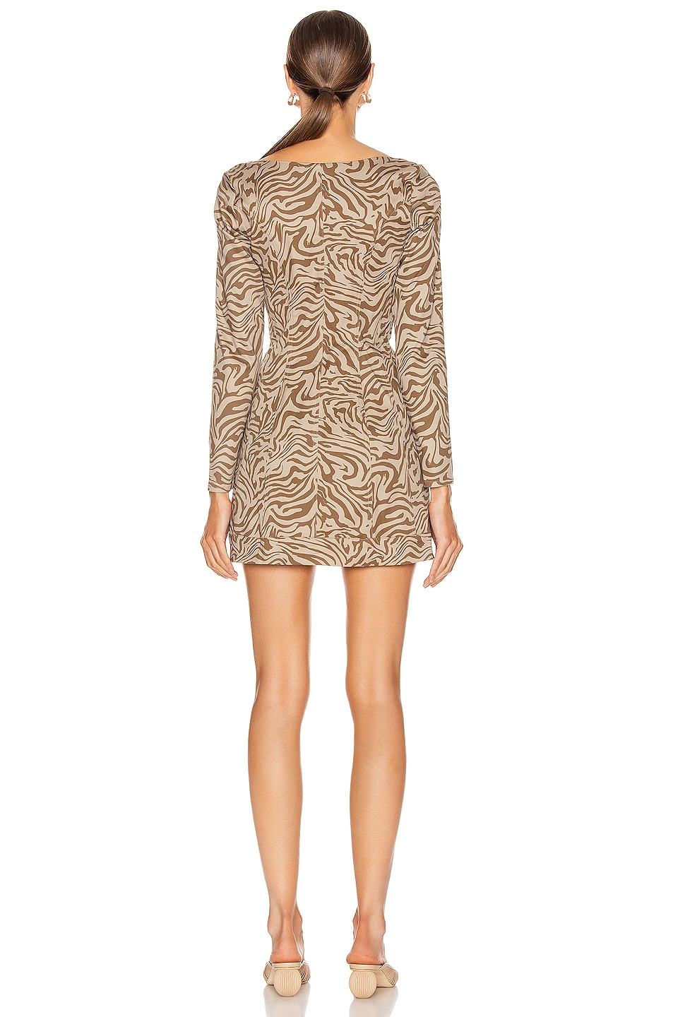 Image 3 of Miaou Dree Dress in Tan Zebra
