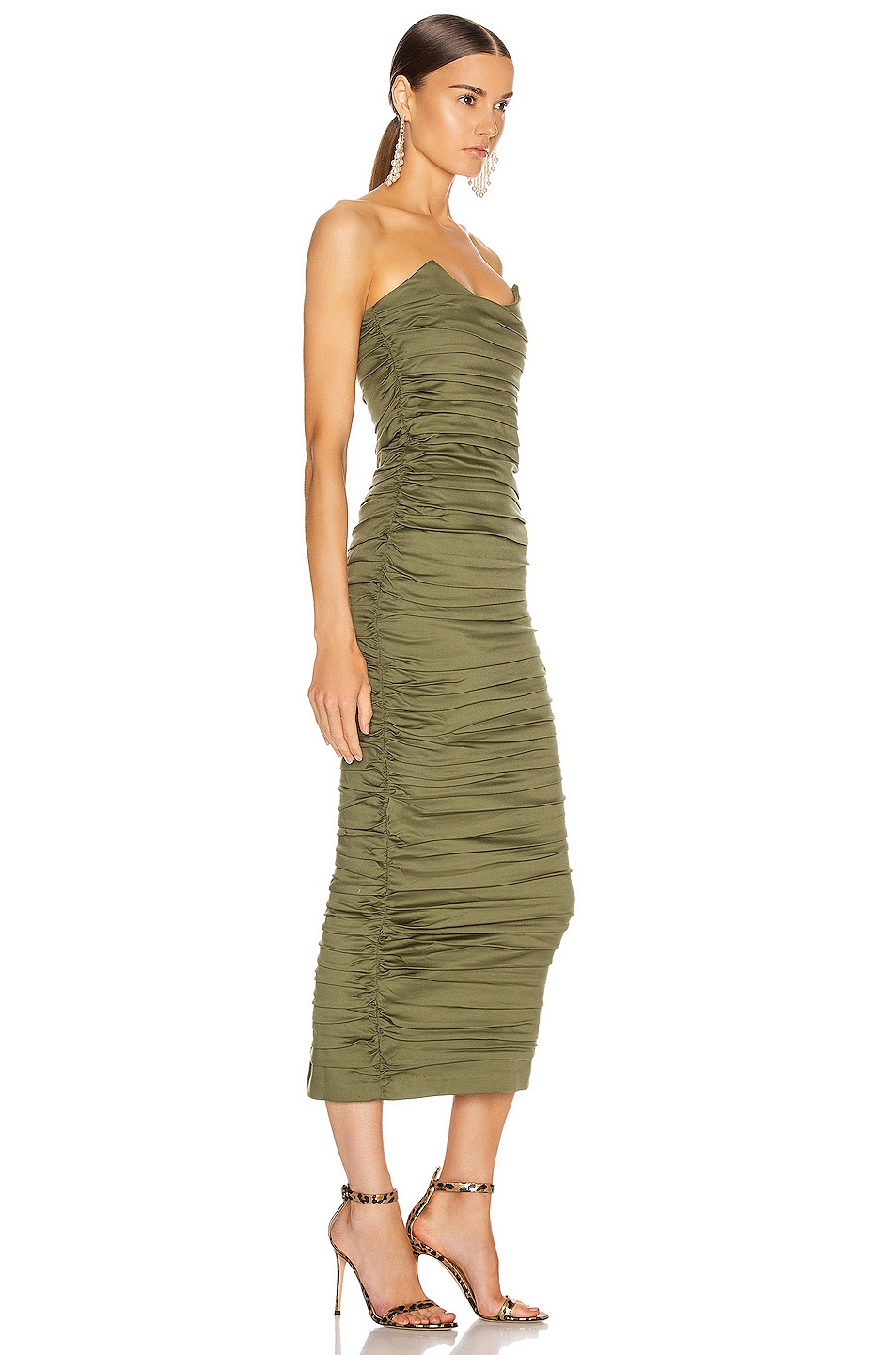Image 2 of Miaou Angelina Dress in Olive