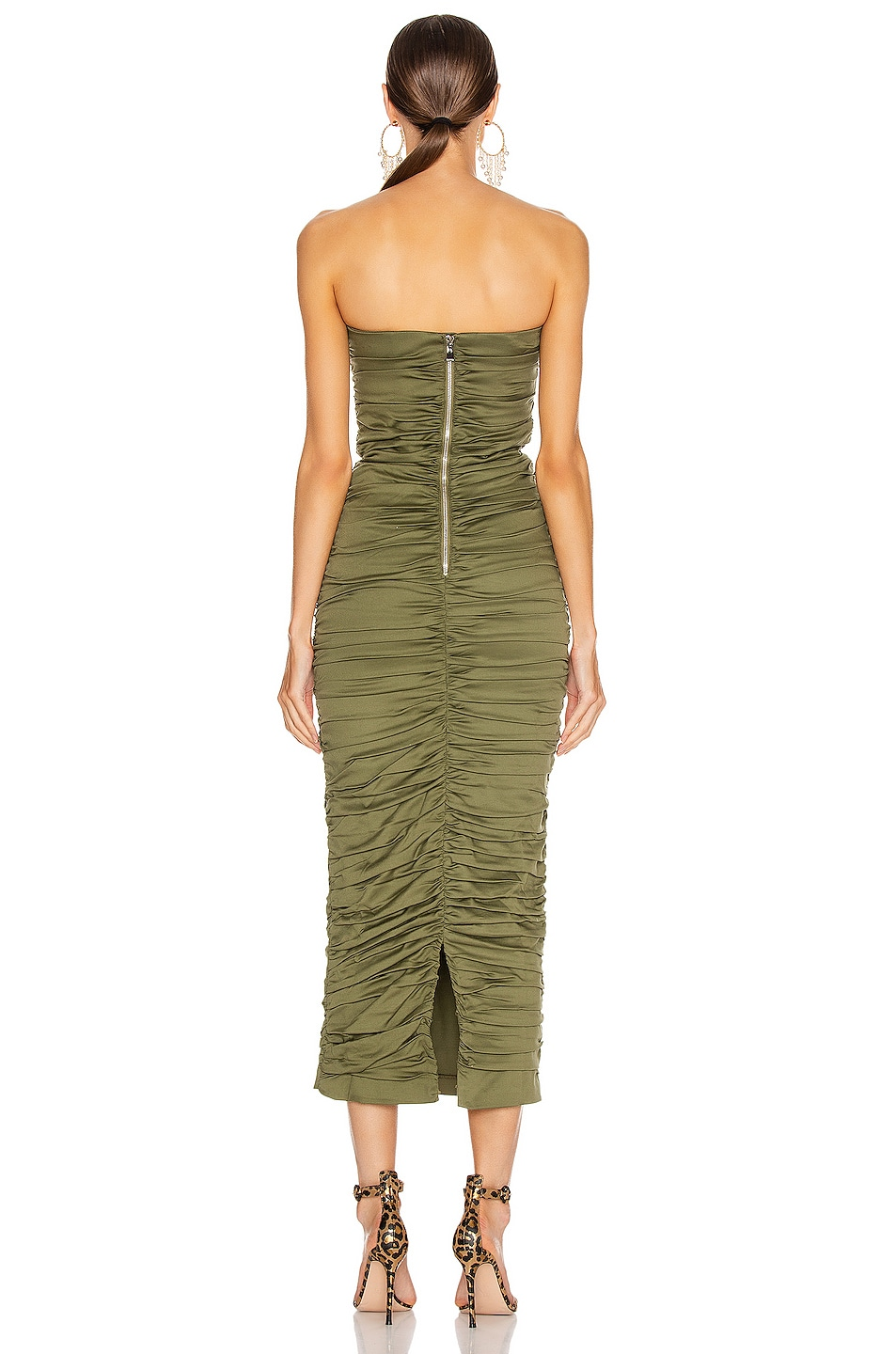 Image 3 of Miaou Angelina Dress in Olive