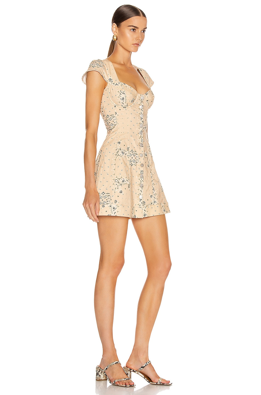 Image 2 of Miaou Gigi Dress in Beige Bandana Print