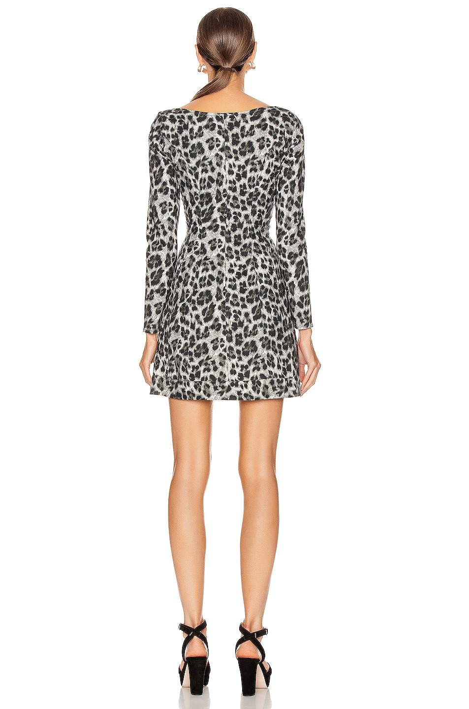 Image 3 of Miaou Dree Dress in Grey Leopard