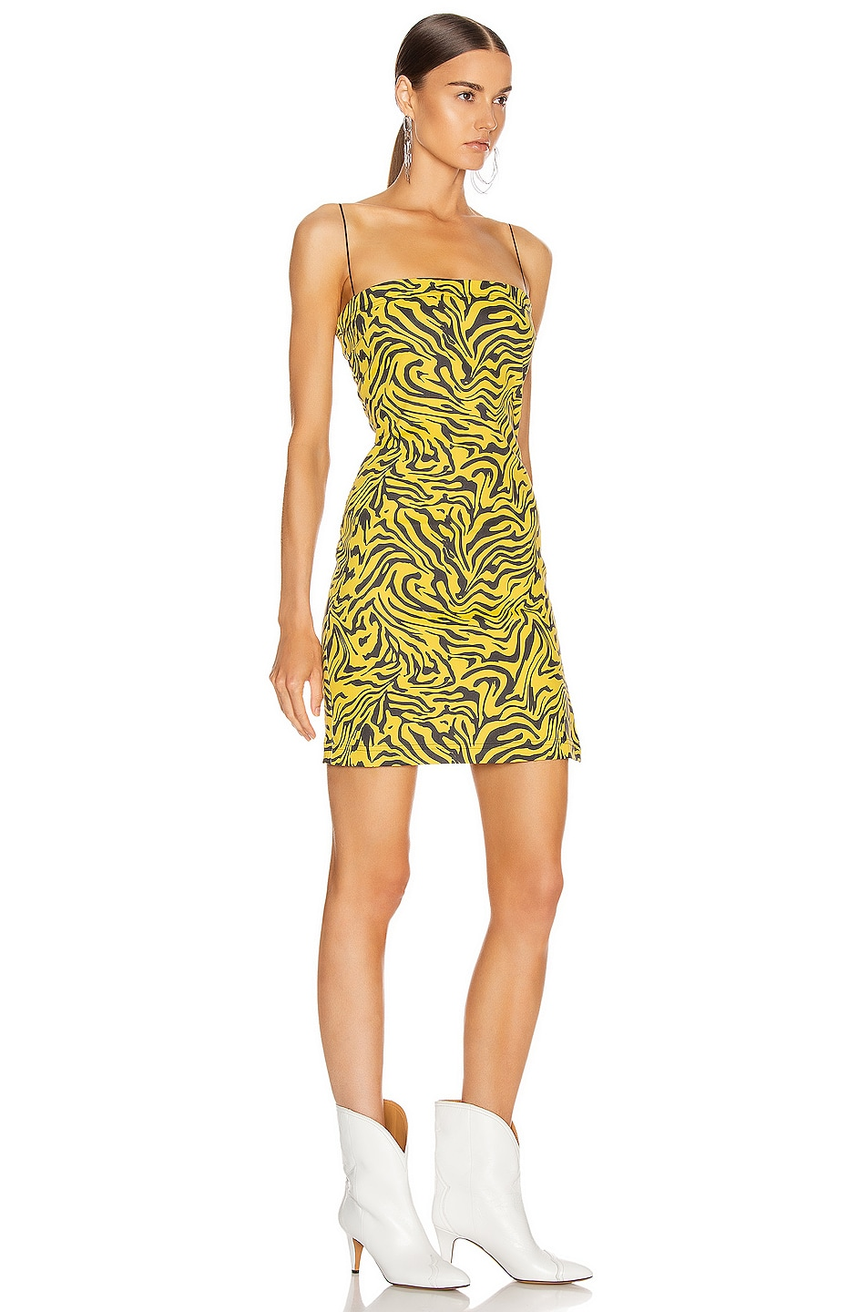 Image 2 of Miaou Lotte Dress in Yellow Zebra Print