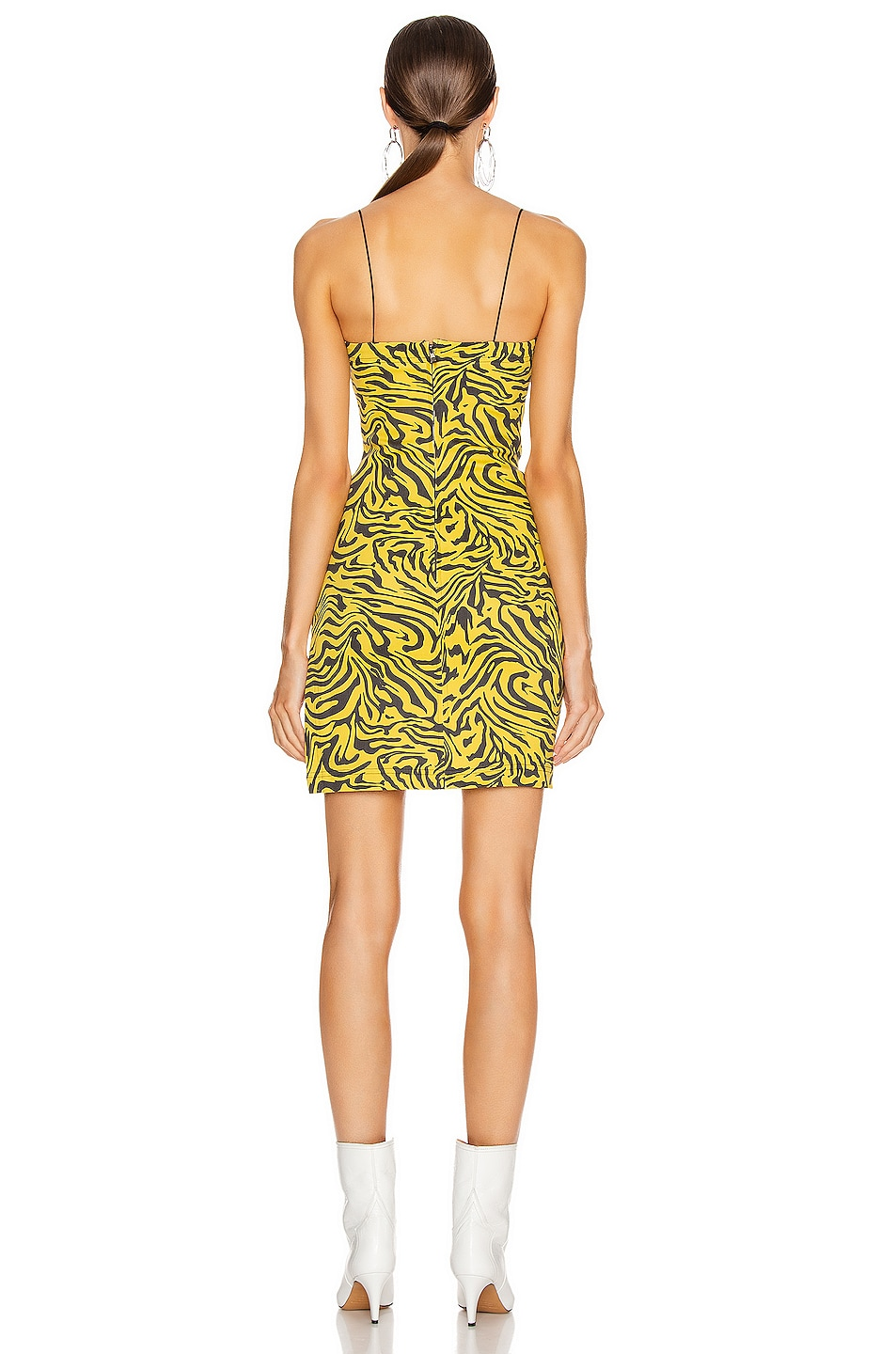 Image 3 of Miaou Lotte Dress in Yellow Zebra Print