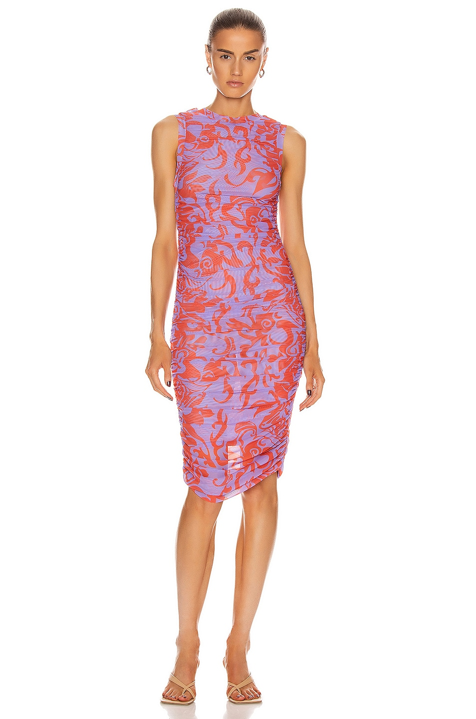 Image 1 of Miaou The Suz Dress in Hawaiian Lavender Red