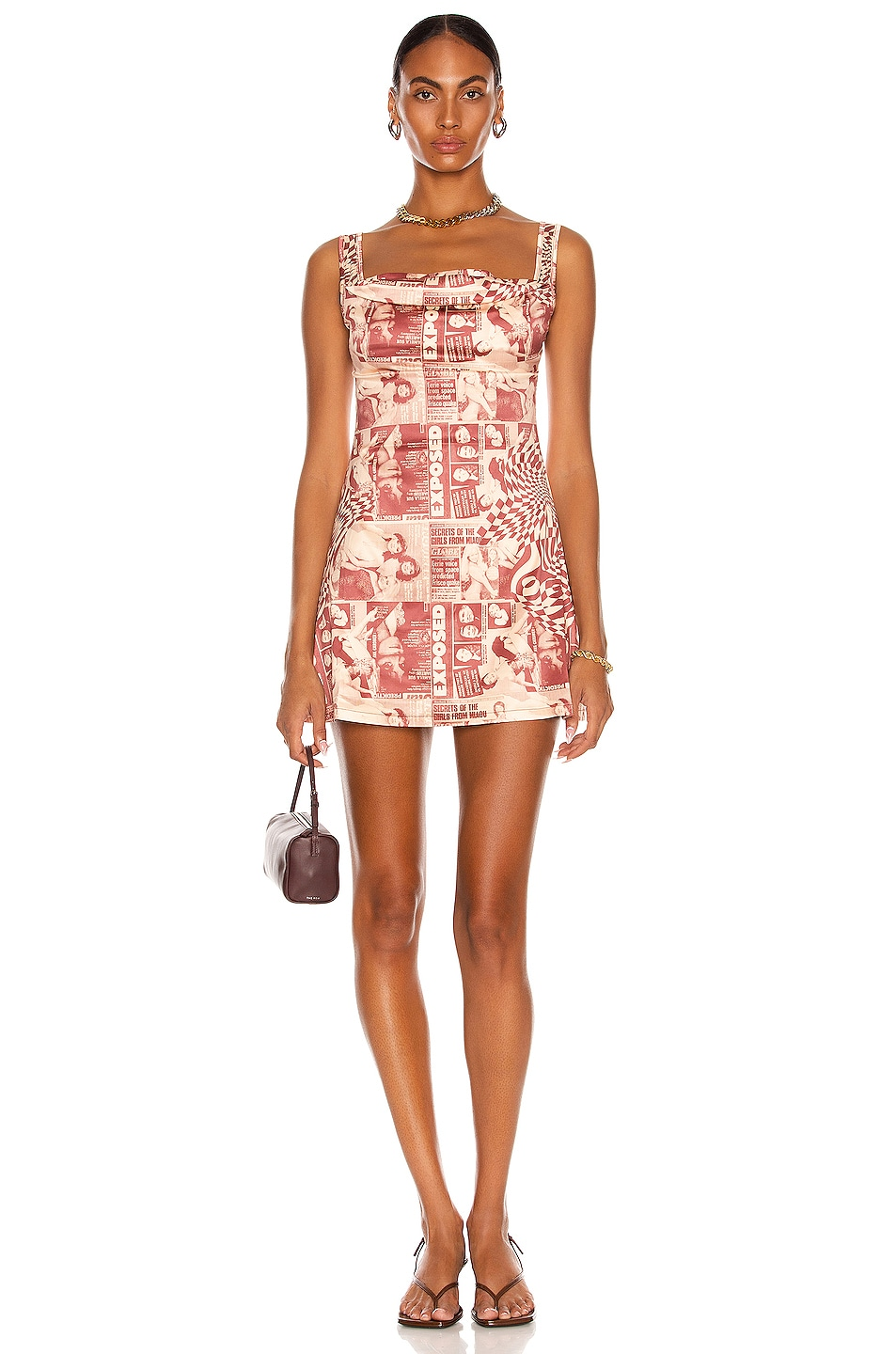 Image 1 of Miaou Ginger Dress in Wanted Red