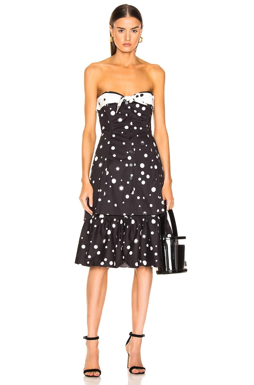 Miaou Dresses MIAOU NORMA DRESS IN BLACK POLKA DOT