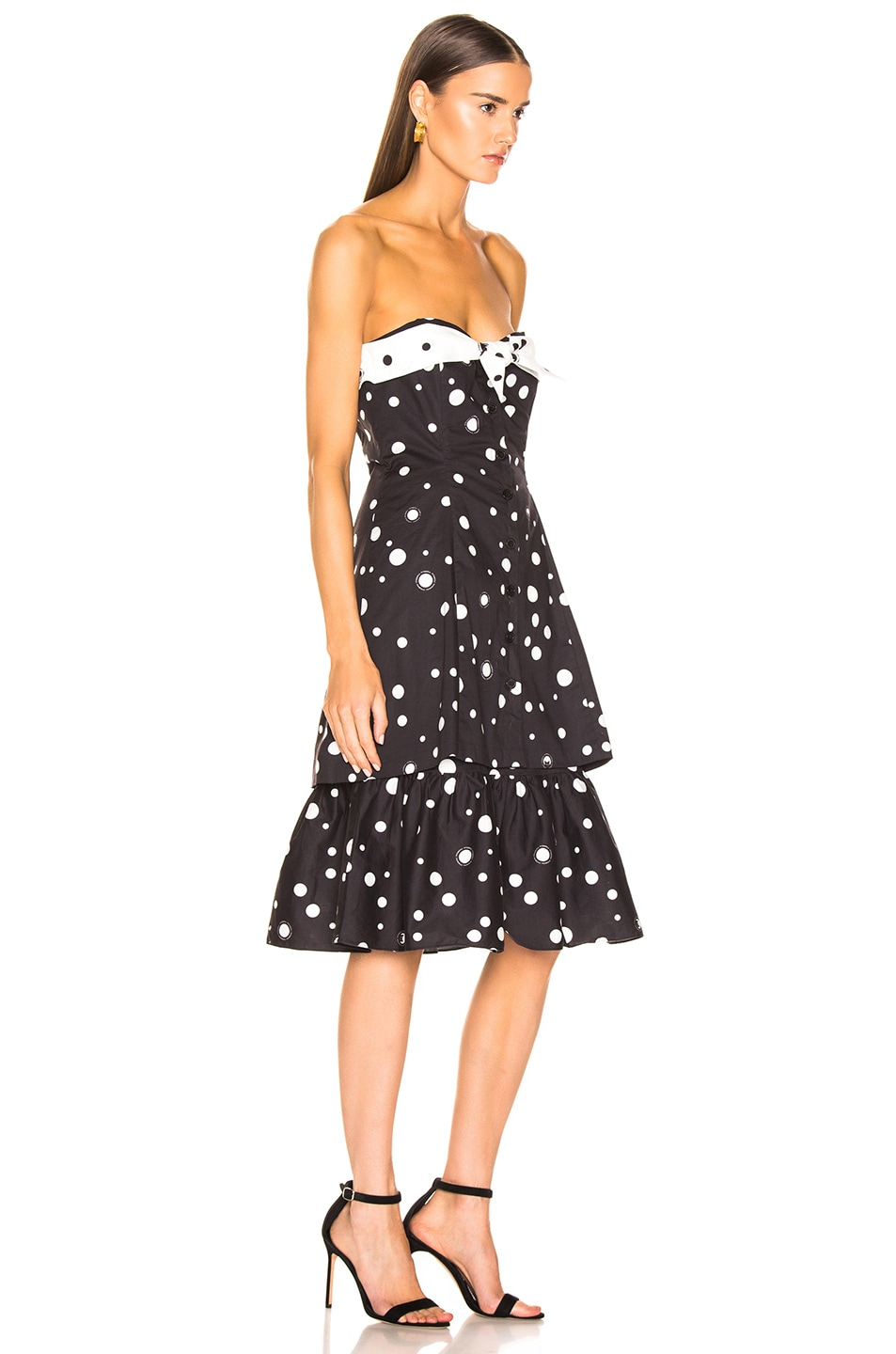 Image 2 of Miaou Norma Dress in Black Polka Dot