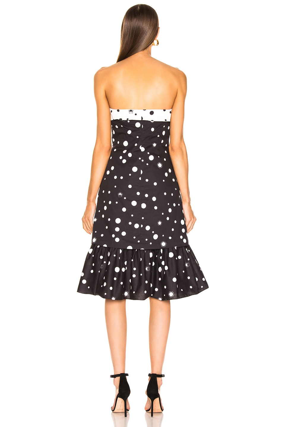 Image 3 of Miaou Norma Dress in Black Polka Dot