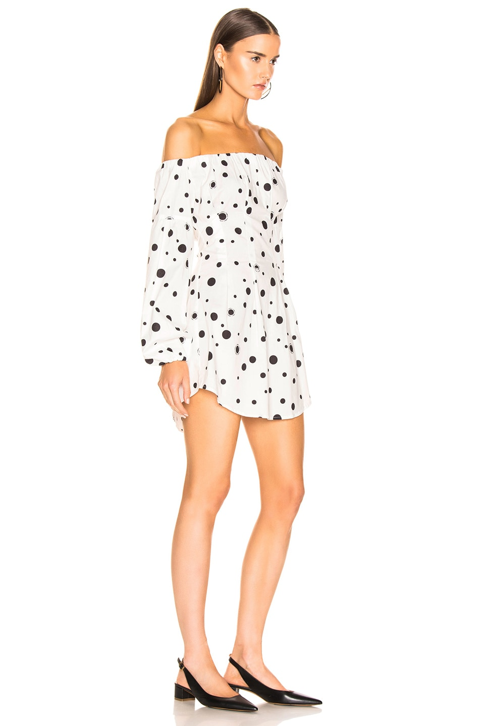Image 2 of Miaou Heidi Dress in White Polka Dot