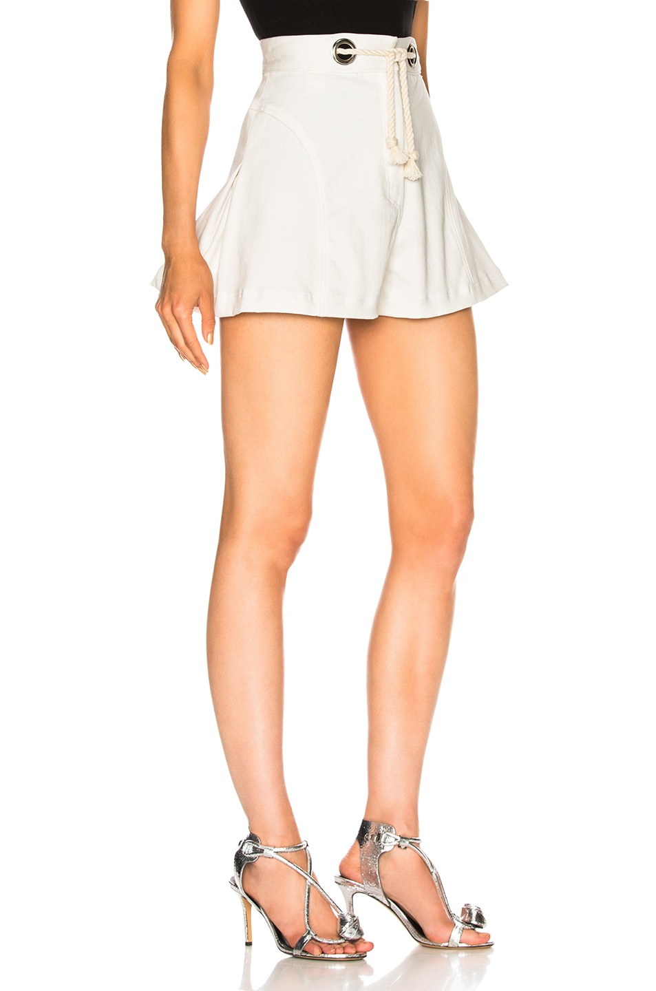 Image 2 of Miaou Greta Short with Rope Belt in White