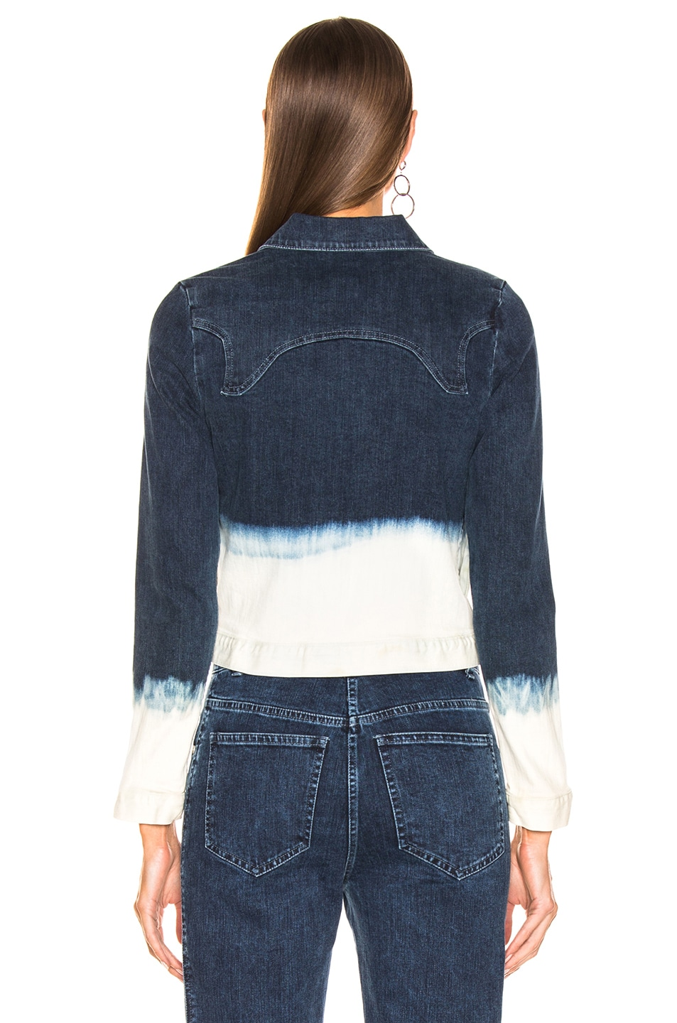 Image 4 of Miaou Lex Jacket in Indigo & White Dip Dye