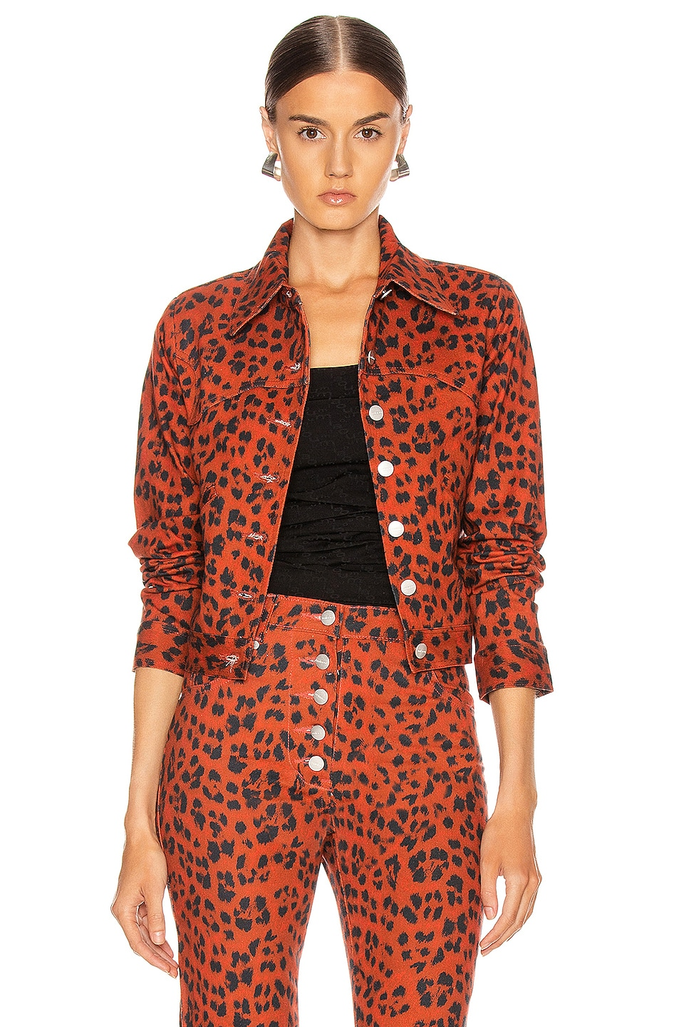Image 1 of Miaou Lex Jacket in Red Leopard