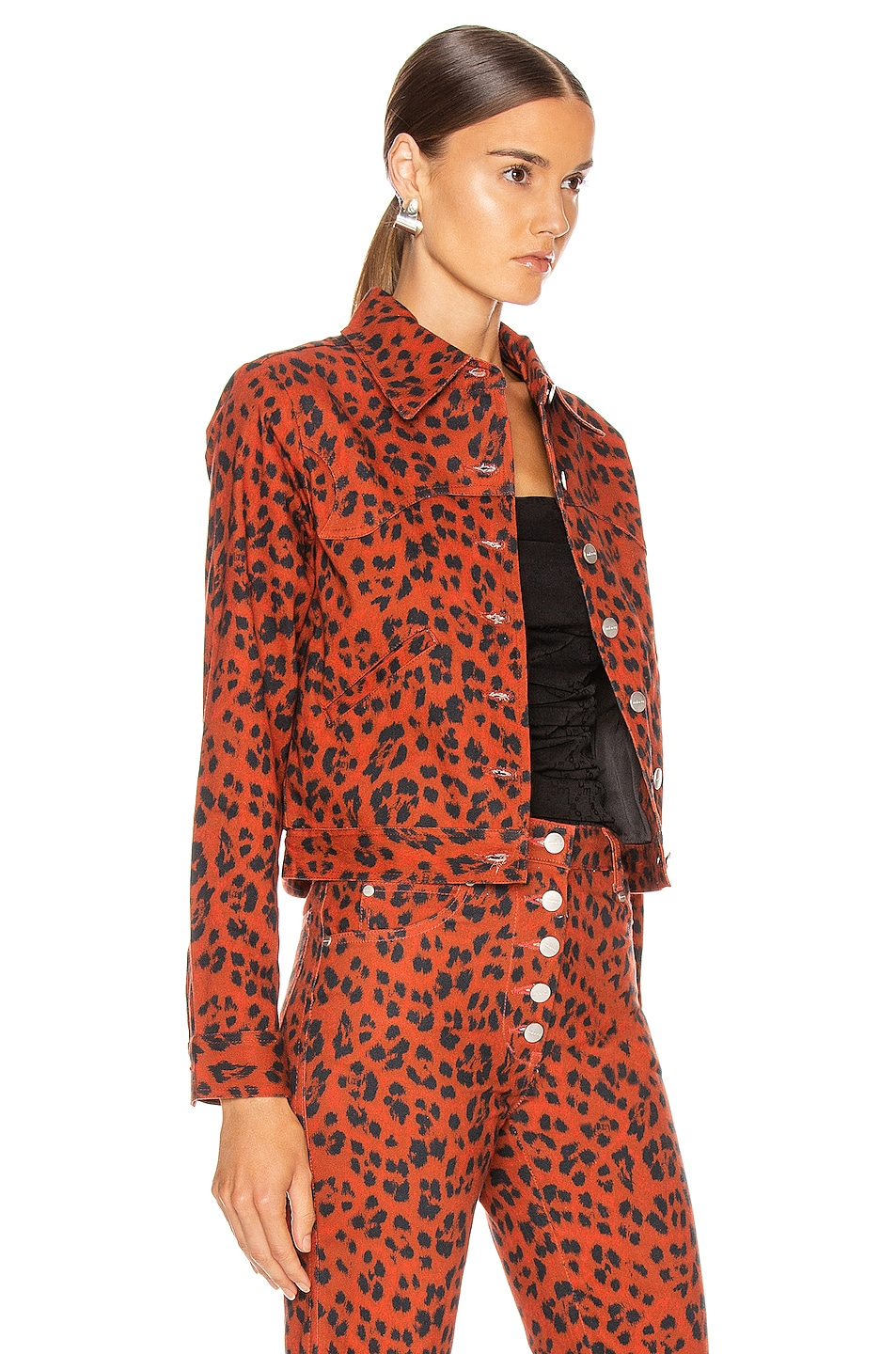 Image 2 of Miaou Lex Jacket in Red Leopard