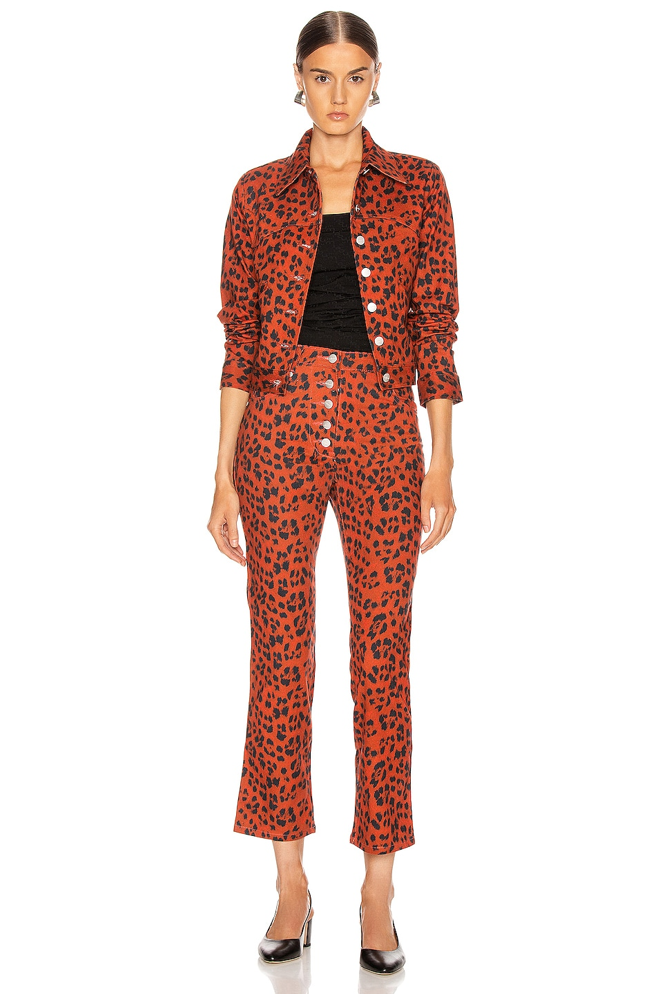 Image 4 of Miaou Lex Jacket in Red Leopard