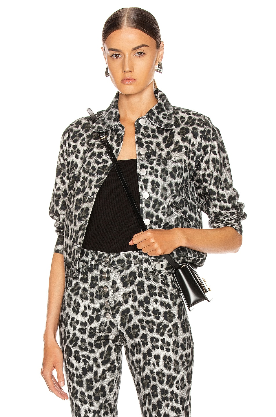 Image 1 of Miaou Lex Jacket in Grey Leopard