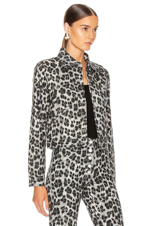 Image 3 of Miaou Lex Jacket in Grey Leopard